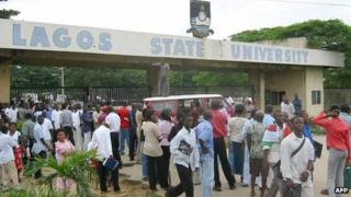 Students at Lagos State University on 1 July 2003