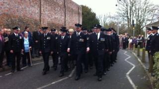 Closing ceremony at Dorchester Prison