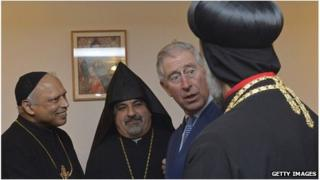 Prince of Wales at Syriac Orthodox cathedral in west London