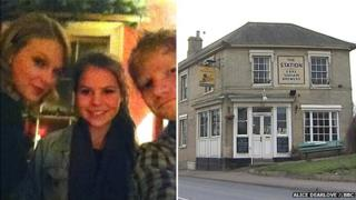 Taylor Swift, Alice Dearlove, Ed Sheeran and The Station pub in Framlingham, Suffolk