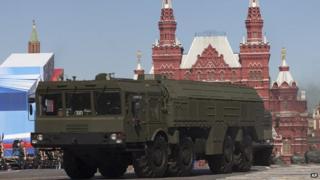 Iskander missile launcher