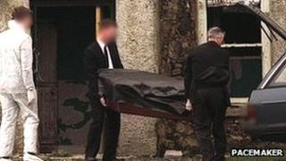 Kevin Conway's body removed by undertakers