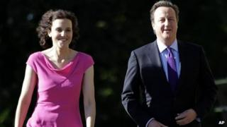 Theresa Villiers with David Cameron