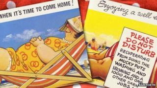Seaside postcards published by Bamforth