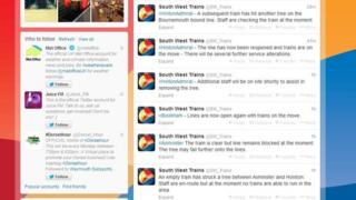 South West Trains Twitter feed