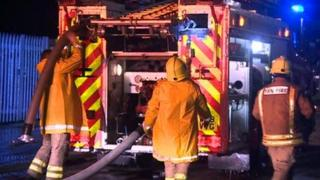 Fire crews were called to pump away water
