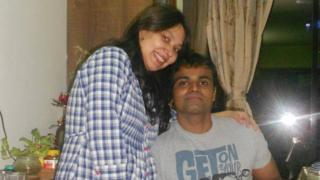 Sunil James and his wife
