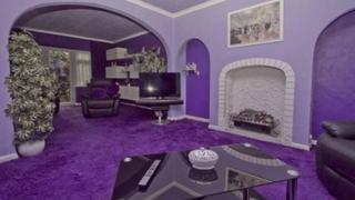 'Purple house' on Rightmove