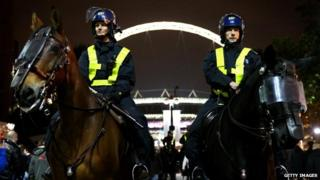 Mounted police in London