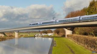 Image of proposed HS2 project