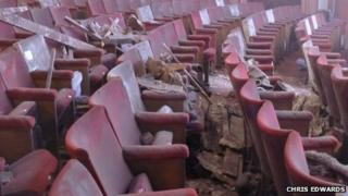 Debris on seats