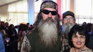 Phil Robertson and several family members attend an A&E event in New York on May 9, 2012