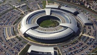 A handout picture released by the MoD shows an aerial view of GCHQ in Cheltenham taken on September 2, 2004.