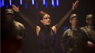 Orla Brady as Tasha Lem in The Time of the Doctor