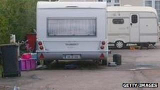 travellers caravan (generic)