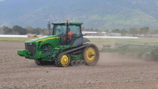Tractor and plough, Tanzania