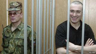 File photo of Mikhail Khodorkovsky inside a cell (16 July 2004)