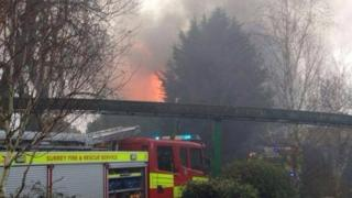 Fire at Chessington Zoo