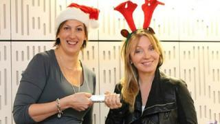 Miranda Hart with Kirsty Young