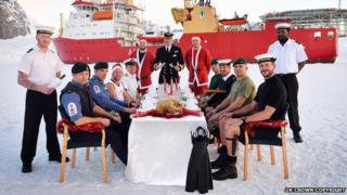 HMS Protector crew