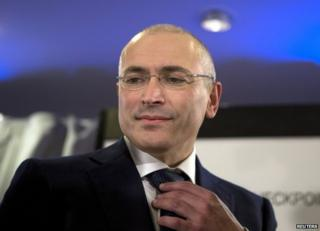 Mikhail Khodorkovsky at his first news conference in Berlin, 22 December
