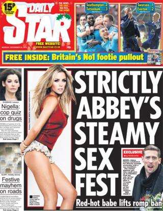 Daily Star front page 23/12/13