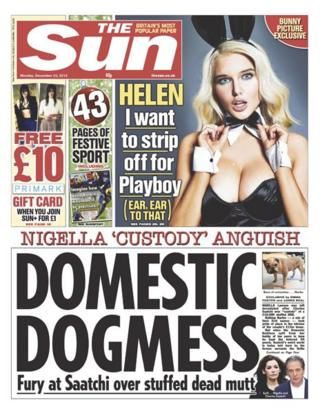 Sun front page 23/12/13