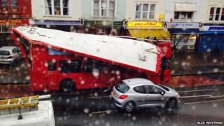 Bus crash in Kingston
