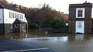 Flooding in Taddiport
