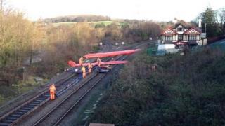 Inflatable dams at Cowley Bridge
