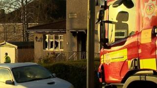 Mary McConnell, 83, died in the fire at the house in Auchengreoch Avenue, Springboig