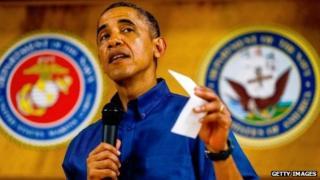 US President Barack Obama in Hawaii. Photo: 25 December 2013
