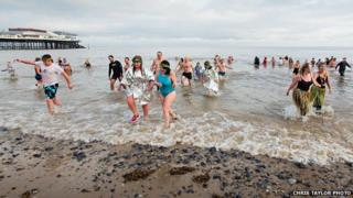 Cromer Boxing Day Dip 2013