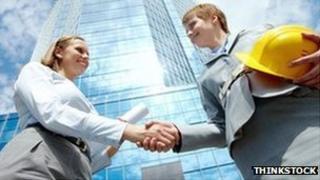 Career women handshake