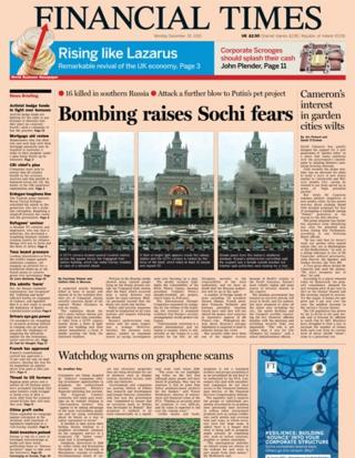 Financial Times front page 30/12/13
