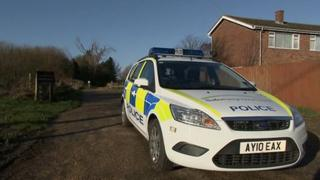 Scene of shooting in Cordy's Lane, Trimley St Mary