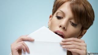 Licking envelope