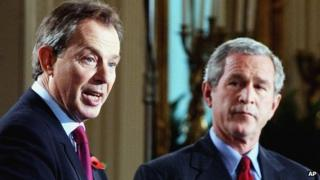 Tony Blair and George W. Bush in 2004