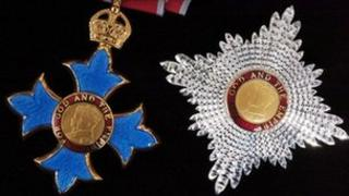 Medal and insignia of the Knight of the Order of the British Empire