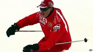Michael Schumacher skiing in 2006