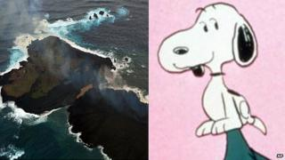 Nishinoshima Island and Snoopy