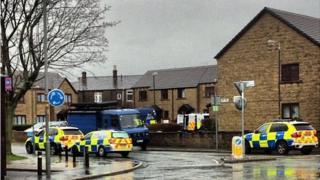Siege scene in Burnley