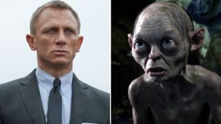 Daniel Craig in Skyfall and Gollum in The Hobbit: An Unexpected Journey