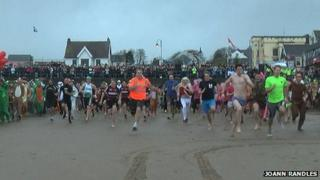 Saundersfoot New Year's Day Swim 2014