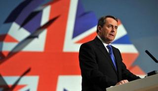 Liam Fox at the 2010 Conservative Party conference