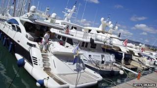 yachts in Palma de Mallorca harbour