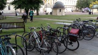 UCL quad and bikes
