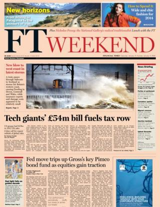Financial Times front page 4/1/14