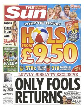 Sun front page 4/1/14