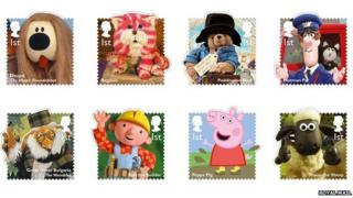 Stamps featuring children's TV characters